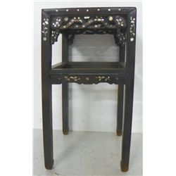 Oriental teakwood mother of pearl inlaid table
