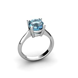 Topaz 1.55ctw Ring 14kt White Gold