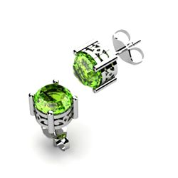 Peridot 1.70ctw Earring 14kt White Gold