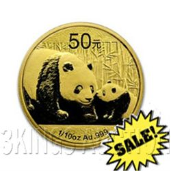 Chinese Gold Panda 10th Ounce 2011