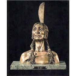 Bronze Sculpture - Tall Feather by Moretti