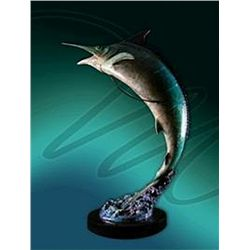 Bronze Sculpture - Blue Marlins by Koop