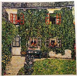 Gustave Klimt FORESTERS HOUSE in WEISSENBACH Signed Limited Ed. Lithograph
