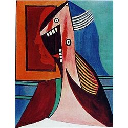 Limited Edition Picasso - Head Of  A Woman With A Self Portrait - Collection Domaine Picasso