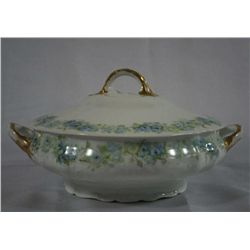 "Handpainted ""Haviland' Porcelain Covered Bowl"