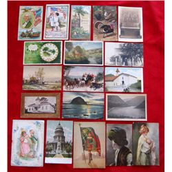 Lot of 19 – Vintage People, Place, Event Postcards