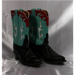 "Ladies ""Lucchese"" Leather Cowboy Boots"