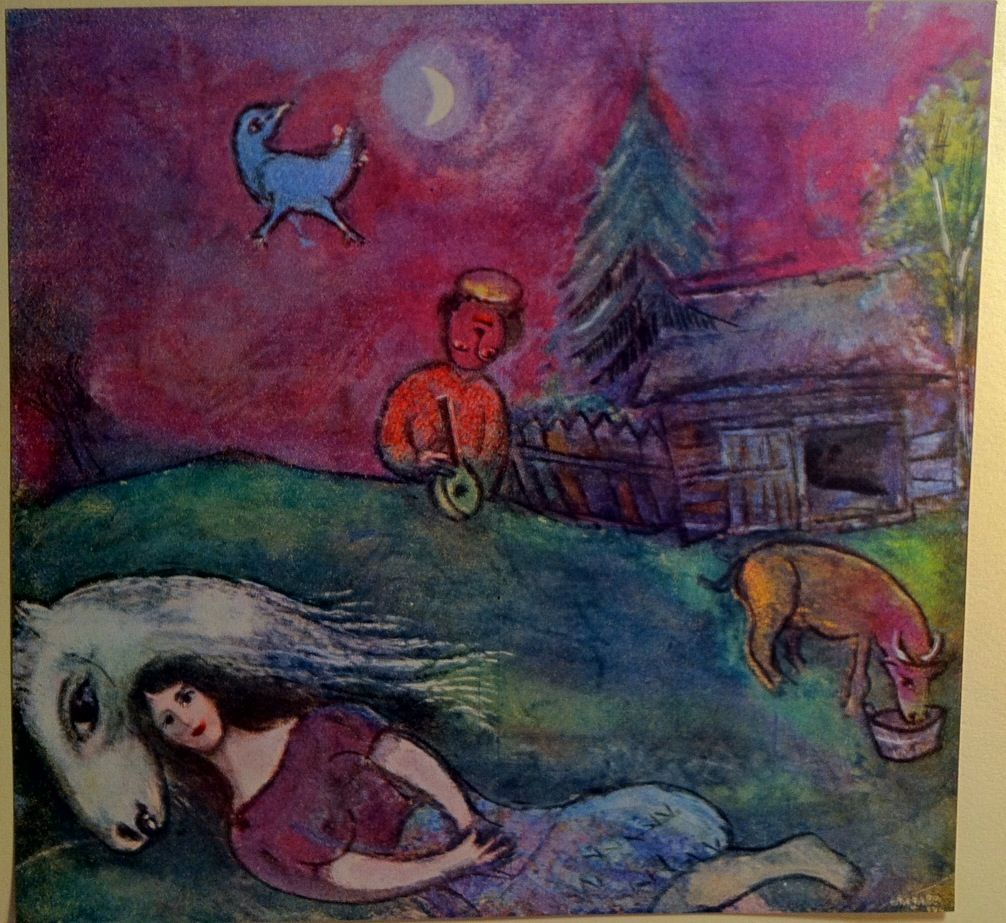 Marc Chagall - A L'Ombre des rêves (In the shade of dreams)