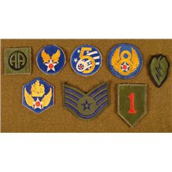 COLLECTION OF 8 US PATCHES TH, 6TH,8TH AF-AA-1 DIVISION