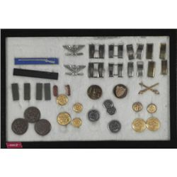 COLLECTION OF 40+ WWII U/S/ MILITARY INSIGNIA, AWARDS