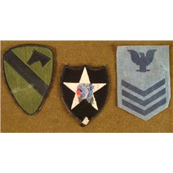 3 U.S. PATCHES 1ST CAVALRY CHIEF PETTY OFFICER NAVY
