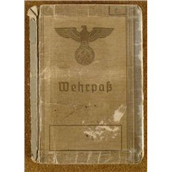 ULTRA-RARE WEHRPASS IDENTIFICATION BOOK ORIGINAL