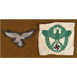 NAZI POLICE UNIFORM EAGLE PATCH  LUFTWAFFE BREAST EAGLE