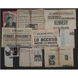 9 VARIOUS JFK/JACK KENNEDY ASSASSINATION ARTICLES