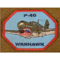 WWII P-40 WARHAWK PATCH
