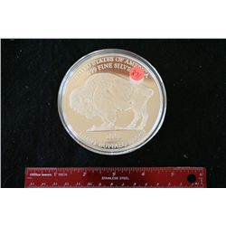 2001 US Giant Buffalo Proof; .999 Fine Silver 1+ Oz.