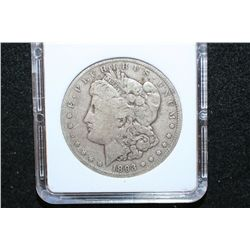 1893-CC Silver Morgan $1; MCPCG Graded F12