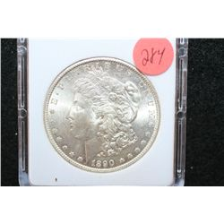 1890-S Silver Morgan $1; MCPCG Graded MS63