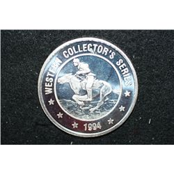 1994 Grand Casino Limited Edition Western Collector's Series; .999 Fine Silver 1.5+ Oz.