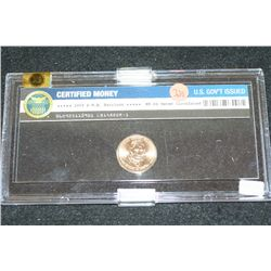 2009-P William Henry Harrison $1 Coin; WRME Graded MS64; Never Circulated In Display Case