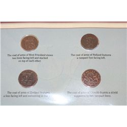 The Original New York Pennies W/Postal Stamp Commerating 300th Anniversary of New York City in 1953;
