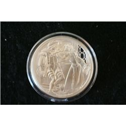 Shakespeare Tradegy Sterling Silver Round; The Taming Of The Shrew; .925 Silver .530 Oz.