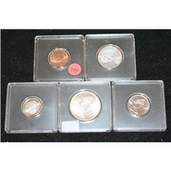 1967 Canada Coin Set; Lot of 5