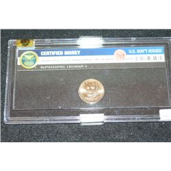 2008-P John Quincy Adams $1 Coin; WRME Graded MS64; Never Circulated In Display Case