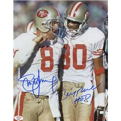 Steve Young & Jerry Rice Signed 49ers 8x10 Photo (PAAS)