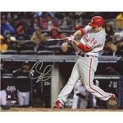 Chase Utley Signed Phillies 8x10 Photo (PAAS COA)