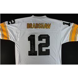 "Terry Bradshaw Signed Steelers Jersey: Inscribed ""4X SB Champ"" & ""HOF 89"" (Mounted Memories COA)"