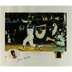 Hank Aaron Signed Braves Limited Edition 16x20 Lithograph #/2500 (JSA COA)