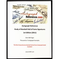 Autograph Reference Baseball Hall of Fame Signature Study Reference Book