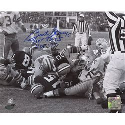 Bart Starr Signed Packers 8x10 Photo: Multiple Inscriptions (Mounted Memories COA)