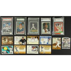 Lot of 150 Baseball Cards Including Many Vintage, Jersey Cards & #ed Cards