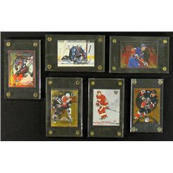 Lot of (6) Hockey Insert Cards Including Gretzky, Roy, Forsberg, Datsyuk & Lindros