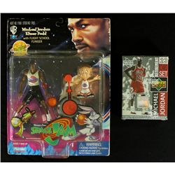 Michael Jordan & Elmer Fudd Space Jam Figures with Michael Jordan Card Set