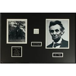 Abraham Lincoln Custom Matted 24x16 Display with Authentic Hair (LOA)