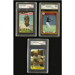 Lot of (3) Graded Barry Bonds Cards