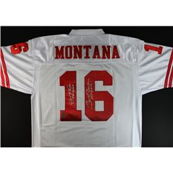 Joe Montana & Jerry Rice Signed & Inscribed 49ers Jersey (Rice & Montana Holograms)