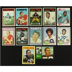Lot of (12) 1960's & 1970's Vintage Football Cards Including Manning, Tarkenton, Jurgensen