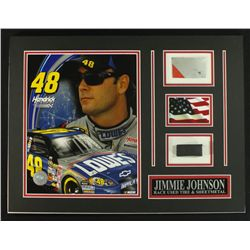 Jimmie Johnson NASCAR 16x12 Custom Display Piece with Sheet Metal & Race-Used Tire (COA)