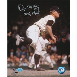 "Denny McLain Signed Tigers 8x10 Photo Inscribed ""31-6, 1968"" (SOP COA)"