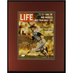 Carl Yastrzemski Signed Red Sox 16x20 Custom Matted Life Magazine (JSA LOA)