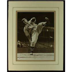 Bob Feller Signed Indians 16x20 Custom Matted Photo (JSA)