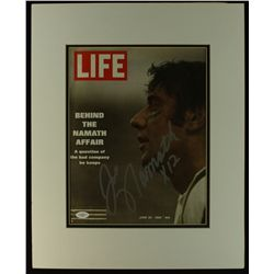 Joe Namath Signed Jets 16x20 Custom Matted Life Magazine (JSA LOA)