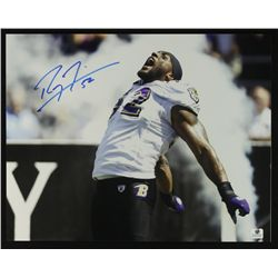 Ray Lewis Signed Ravens 11x14 Photo (GA COA)