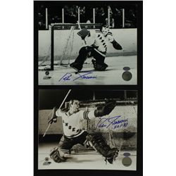 Lot of (2) Eddie Giacomin Signed Rangers 8x10 Photos (SI COA)
