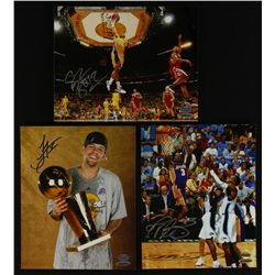 Lot of (3) Signed Lakers 8x10 Photos With Brown, Ariza & Farmar (UDA)