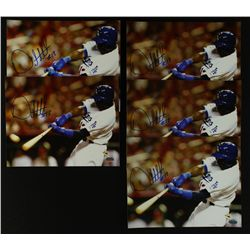 Lot of (5) Orlando Hudson Signed Dodgers 8x10 Photos (SI COA)